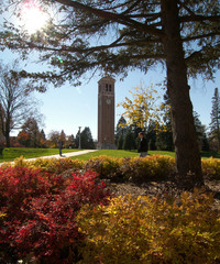 University of Northern Iowa - Campanile in the fall